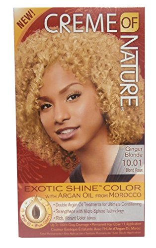 Creme of Nature hair colour, exotic shine colour ginger blonde 10.01