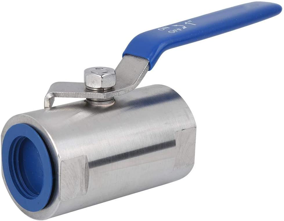 Threaded Ball Valve Tap Water for Industrial G1in Stainless Steel Industrial Tap Water Ball Valve