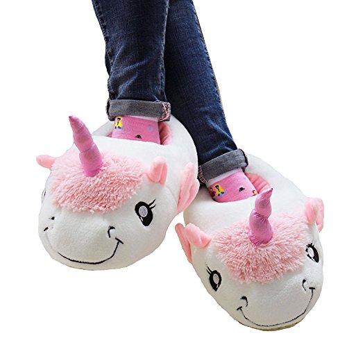 licorne de Halloween amp;Melody peluche Pantoufles avec des 3D Noël Blanc Doux libre chaussures Taille en Antidérapant Mystery Animal 41 EU ailes Chaussures Fête Chaussons Chaussures Cosplay 36 7qYw7X