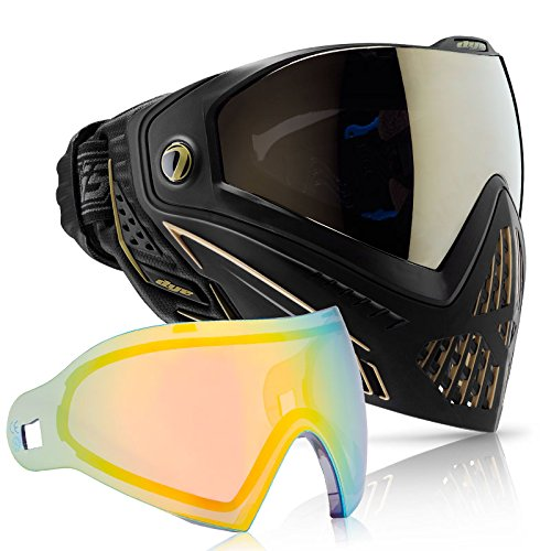 Dye i5 Paintball Goggle - Onyx/Gold with Northern Lights Thermal Lens Combo by Dye
