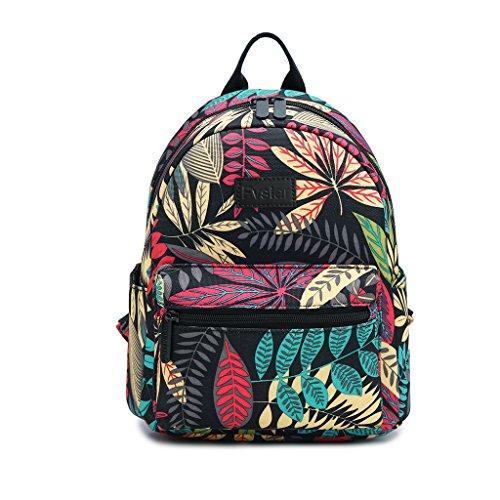 - Fvstar Floral Cute Teen Girls Canvas Backpack Outdoor Mini Backpack Travel Backpack Purse