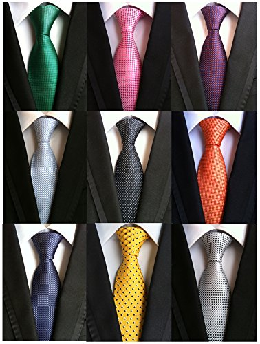 Welen+Lot+9+PCS+Classic+Men%27s+Tie+Necktie+Woven+JACQUARD+Neck+Ties+%28Style+08%29