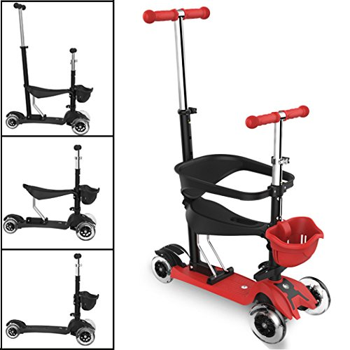 Asunflower Kick Scooter Baby Walker 4 In 1 Stroll Tricycle