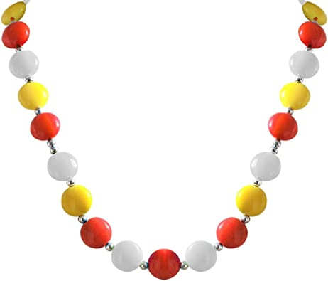 collier perles fantaisie femme
