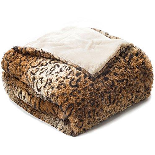 50 Percent Blanket - Bedsure Leopard Throw Blanket Faux Fur Bed Throw 50