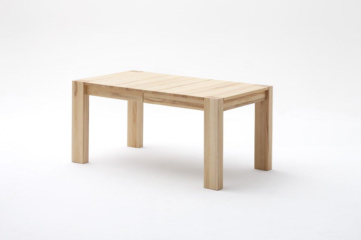 esstisch esszimmertisch massivholztisch kernbuche ausziehbar l 160 260 g nstig. Black Bedroom Furniture Sets. Home Design Ideas
