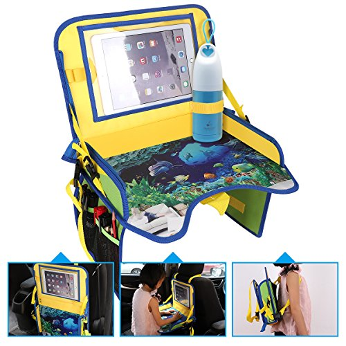 BNTTEAM Multi Functions Kids Travel Backseat Organizer Holds Crayons Markers an iPad Kindle or Other Tablet. Great for Road Trips and Travel by BNTTEAM