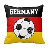 German Flag With Football Throw Pillow C