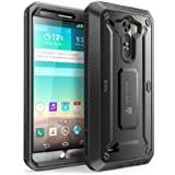 LG G3 Case, SUPCASE [Heavy Duty] LG G3 Case [Unicorn Beetle PRO Series] Full-body Rugged Hybrid Protective Case with Built-in Screen Protector (Black/Black), Dual Layer Design+Impact Resistant Bumper