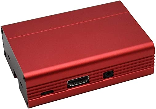 XZANTE Nuevo Premium para Carcasa Raspberry Pi Carcasa de Aluminio para Raspberry Pi 3B / 3 / 2B (Rojo): Amazon.es: Electrónica