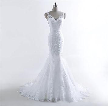 HAPPYMOOD Vestido de novia Elegante Vestido de novia Novio Organdí Largo Sirena Vestidos de novia Para