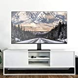 Universal TV Stand - Table Top TV Stand for 32-47 Inch LCD LED TVs - Height Adjustable TV Base Stand with Tempered Glass Base & Wire Management & Security Wire, Holds up to 88lbs, VESA 400x400mm