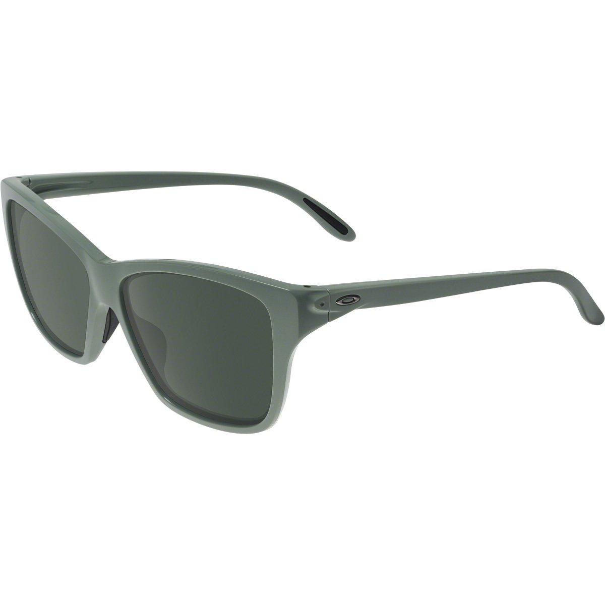 Oakley Women's OO9298 Hold On Irregular Sunglasses, Light Olive/Dark Grey, 58 mm by Oakley
