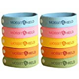 HomeSweety Mosquito Repellent Bracelets 10pcs, 100% All Natural Plant-Based Oil Mosquito Bands, Travel