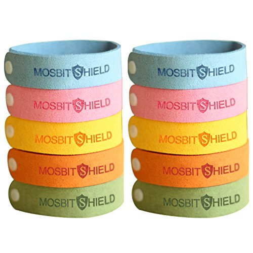 (LovelyHomeShop Mosquito Repellent Bracelets 10pcs, 100% All Natural Plant-Based Oil Mosquito Bands, Non-Toxic Travel Insect Repellent, Soft Material Kids & Adults, Keeps Insects & Bugs Away)