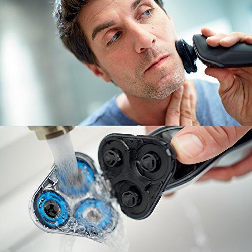 Philips Serie 5000 S5110/06 - Afeitadora eléctrica para hombre rotativa, perfilador patillas, color negro