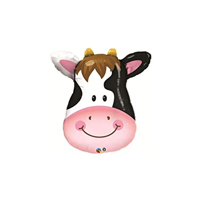 "PIONEER BALLOON COMPANY 16455 Contented Cow Shape Balloon Pack, 32"": Kitchen & Dining"