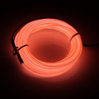 Lerway ® Orange 5 M, EL Draht Wire Neon, Leuchtet Tron ...