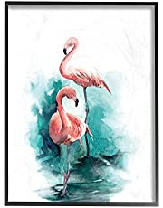 Stupell Home Décor Flamingo Duo Watercolor Texture Framed Giclee Texturized Art, 11 x 1.5 x 14, Proudly Made in USA