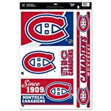 """MONTREAL CANADIENS OFFICIAL 11""""X17"""" SHEET NHL CAR WINDOW CLING DECAL"""