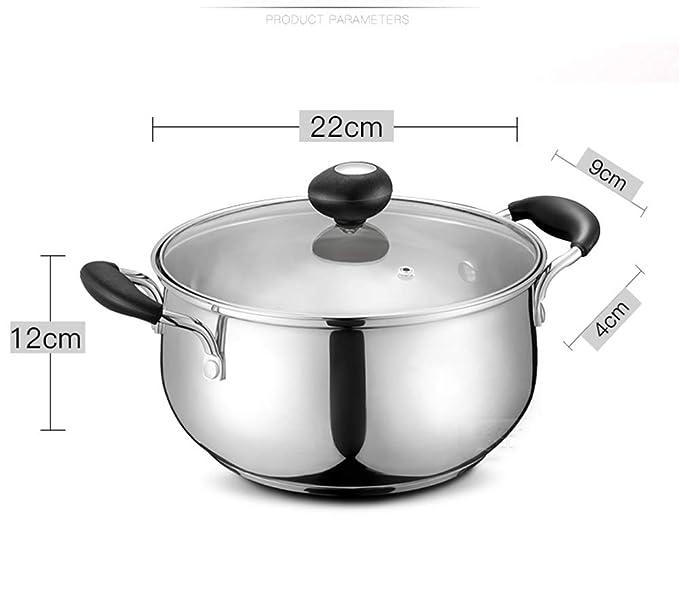 AA-SS-Soup pot Olla de Sopa de 22 cm de Espesor 304 de Acero ...