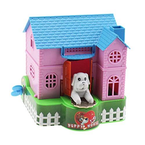 Tipmant Cute Cartoon Garden House Puppy Dog Money Piggy Bank Coin Saving Pot Deposit Box Toy for Kids