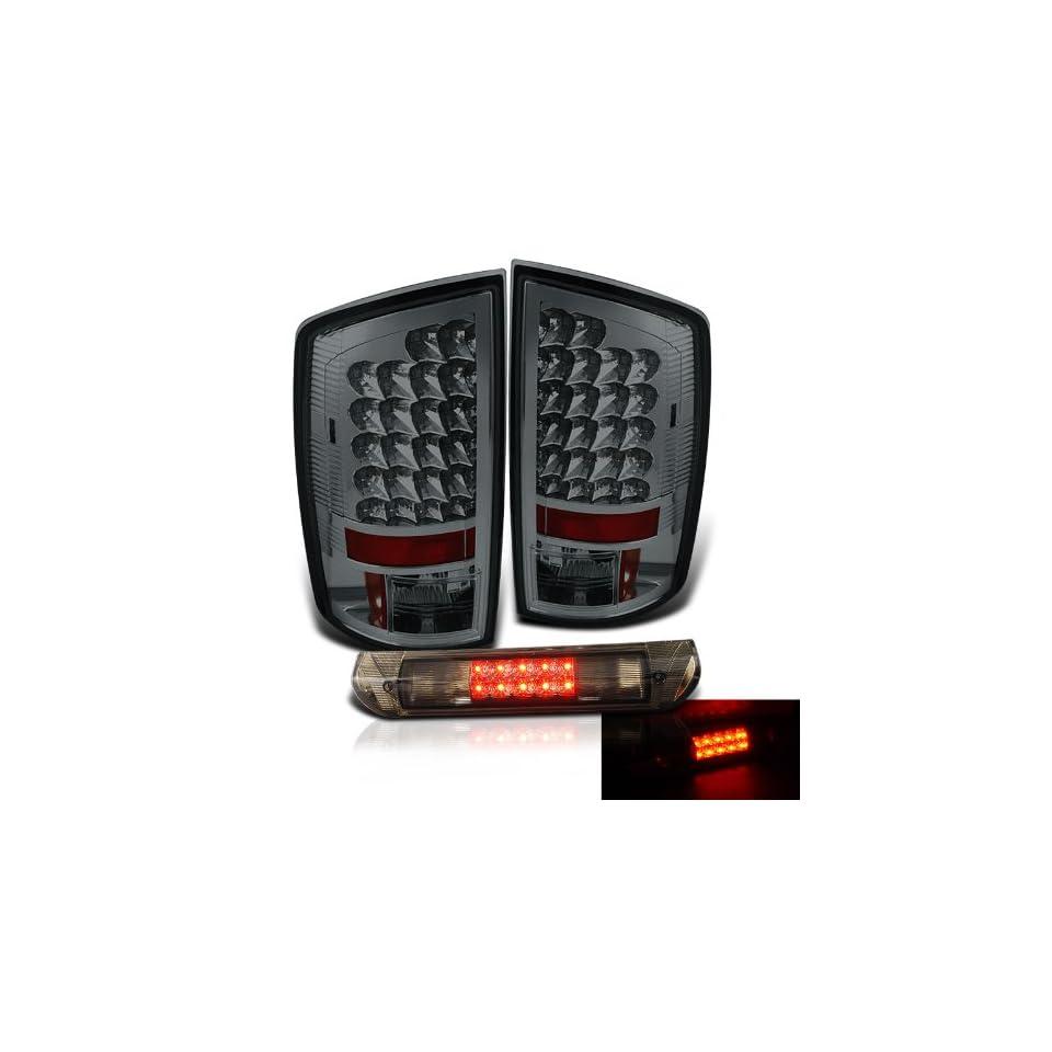 Eautolights 02 06 Dodge Ram Smoked LED Tail Lights + LED Brake