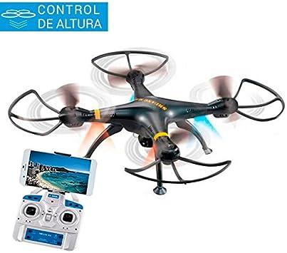 Drone Black Phantom | FPV a Smartphone | Control Altura | Cámara HD | 2 Velocidades |: Amazon.es: Juguetes y juegos