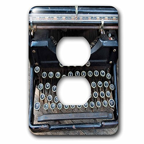 3dRose Danita Delimont - Objects - Vintage type writer, Brooklyn, New York, Usa. Williamsburg - Light Switch Covers - 2 plug outlet cover - Williamsburg Outlet