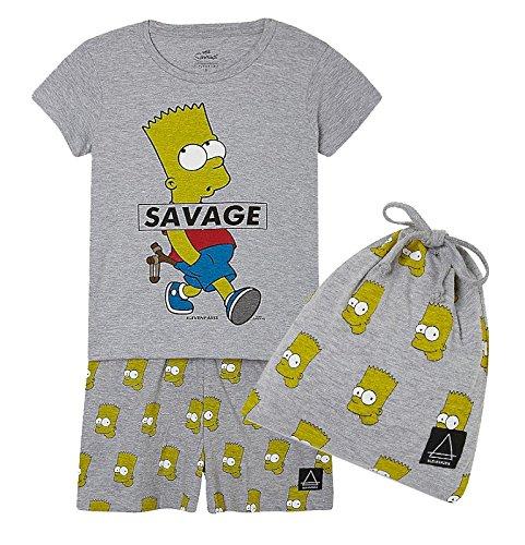 Little juego de Eleven Paris Bart Simpson pijama de pesca con funda