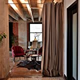 RoomDividersNow Muslin Tension Rod Room Divider Kit - Large A, 8ft Tall x 6ft 8in - 9ft 6in Wide (Gray)