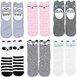 Unisex-baby Socks Knee High Stockings Animal Theme 6 Pack Set by OLABB