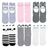 OLABB Unisex Baby Socks Knee High Stockings Animal Theme 6 Packs Gift Set, Animals A,(S)0-12Months