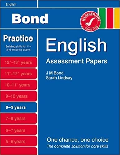 New Bond Assessment Papers English 8-9 Years by Sarah Lindsay (2014-04-01)