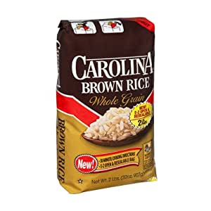 Amazon.com : Carolina Natural Long Grain Brown Rice 2 lbs
