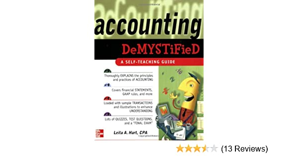 Amazon accounting demystified a self teaching guide amazon accounting demystified a self teaching guide 9780071450836 leita hart books fandeluxe Choice Image