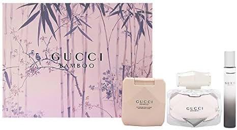 Gucci Bamboo by Gucci for Women 3 Piece Set Includes: 2.5 oz Eau de Parfum Spray + 0.25 oz Eau de Parfum Fragrance Pen + 3.3 oz Body Lotion