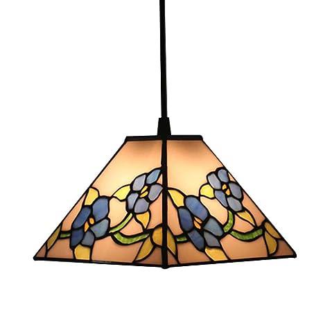 Lámpara colgante estilo Tiffany, araña de cristal hecha a ...