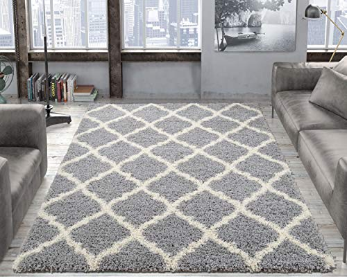 - Ottomanson Collection shag Trellis Area Rug, 7'10