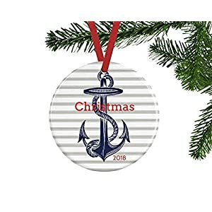 51FSpqgC28L._SS300_ 75+ Anchor Christmas Ornaments