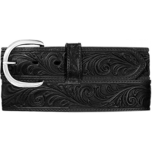 - Silvercreek Men's Hand Tooled Western Belt Black 34