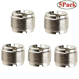 "FidgetGear 5 Packs 5/8-Inch Male to 3/8-Inch Female Microphone Screw Adapter 5/8""-27 to 3/8"