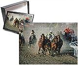 Photo Jigsaw Puzzle of Chuck Wagon Race, Calgary Stampede, Alberta, Canada