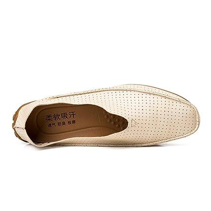 HILOTU Verano Transpirable Perforado Zapatos Casuales para Hombres ...