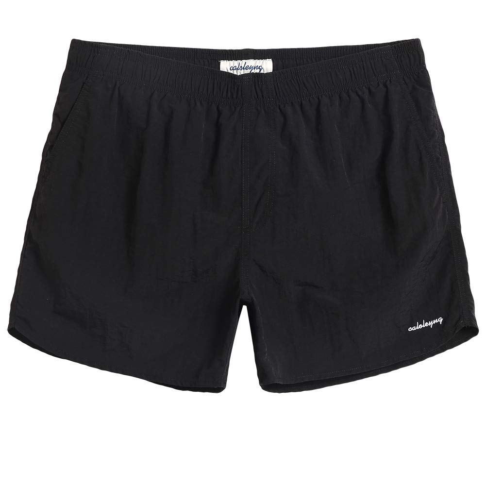 CALOLEYNG Mens Slim Fit Quick Dry Beach Swim Shorts Swim Trunks Mens Bathing Suits with Mesh Lining