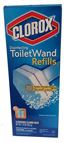 Clorox Toilet Wand Refill, 10 Count (Clorox Wand Refills)