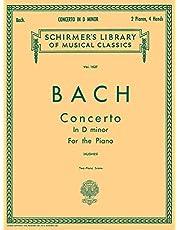 Concerto in D Minor (2-piano score): BW1052 Schirmer Library of Classics Volume 1527 Piano Duet