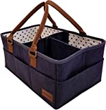 #10: Baby Diaper Caddy Organizer - Nursery Storage Bin for Diapers, Toys, and Baby Essentials - 15 x 10 x 7 Inches by HatBit