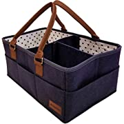 Baby Diaper Caddy Organizer - Nursery Storage Bin for Diapers, Toys, and Baby Essentials - 15 x 10 x 7 Inches by HatBit