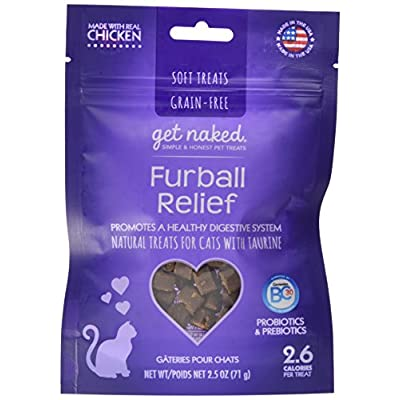 Cat Food Get Naked Furball Relief Soft Treats for Cats, 2.5 oz [tag]